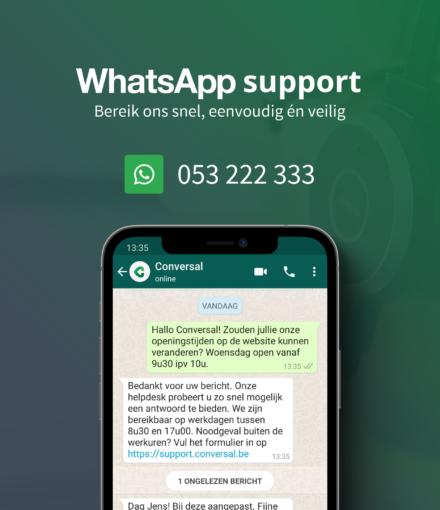 Whatsapp Support bij Conversal